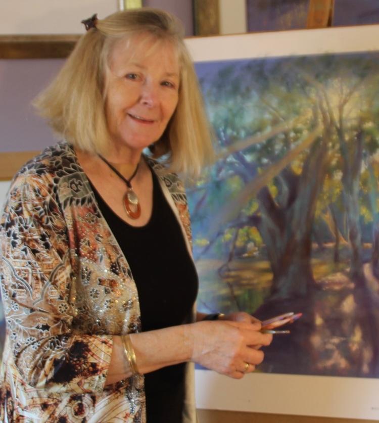 GracePaleg portrait with Shining Gum painting