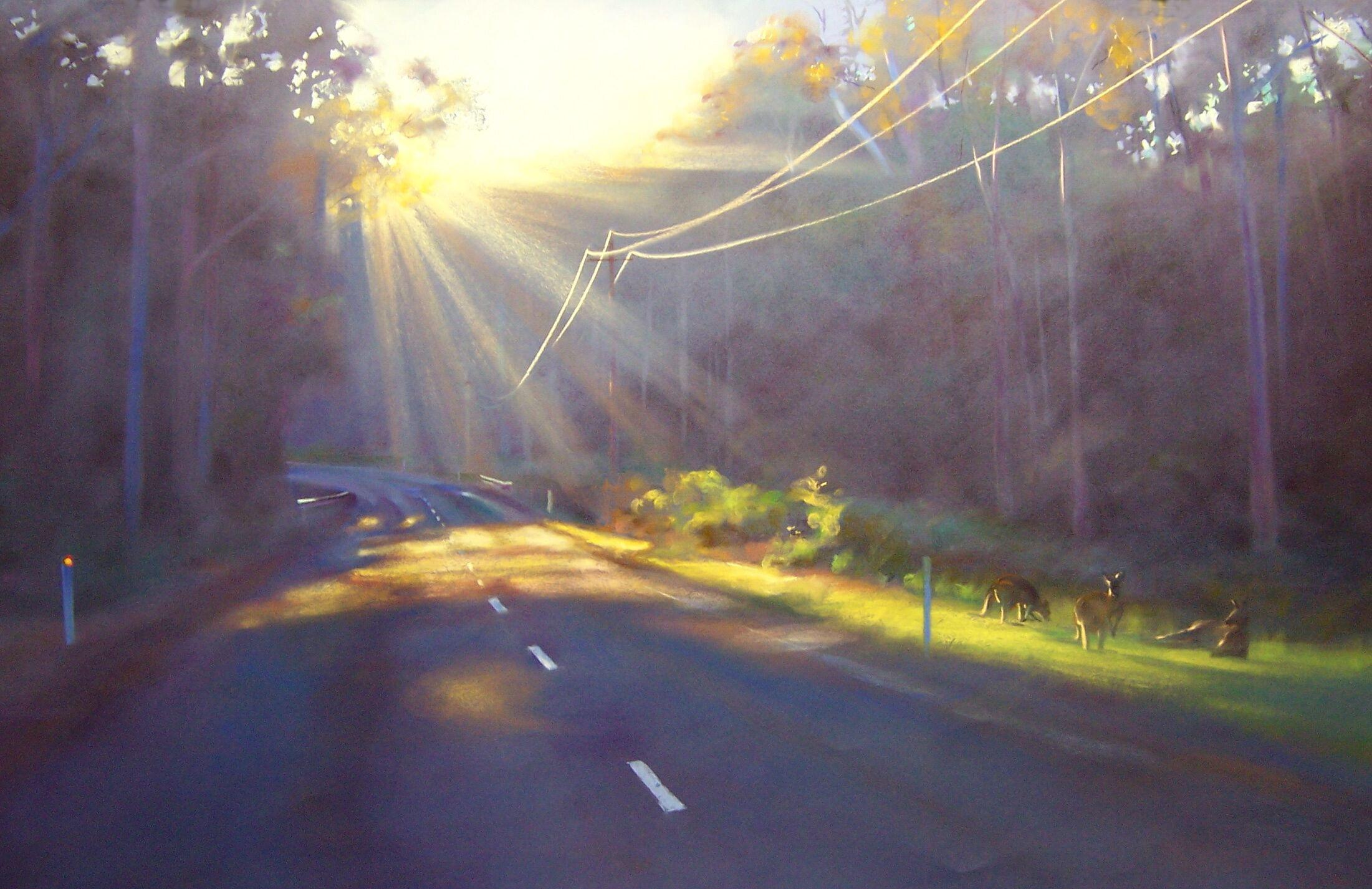 GracePaleg painting The Road to Durras